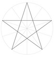 correct shape template geometric shape pentagram vector image