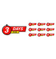 countdown badges number days left to go from 1 vector image vector image