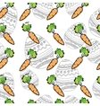 Eastern Carrot Seamless Pattern vector image vector image