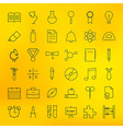 Education and School Line Science Icons Set vector image vector image