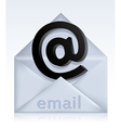 Envelope with e-mail sign vector image vector image