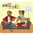 Famuly flaying with child vector image vector image