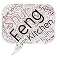 Feng Shui text background wordcloud concept vector image vector image