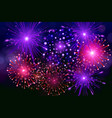 festive colorful fireworks on black background vector image vector image