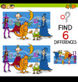 finding differences game vector image vector image