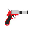 flare gun pistol signal sos icon warning vector image vector image