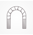 Flat line design round arch vector image vector image