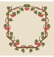 Frame with leaves vector image vector image