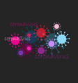 graphics brightly colored coronaviruses vector image vector image