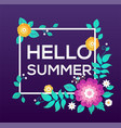 hello summer - modern colorful vector image vector image