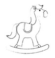 horse rocking toy vector image