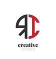 initial letter ri creative elegant circle logo vector image vector image