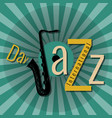 international jazz day pop at style green vector image