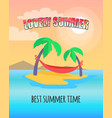 lovely summer best time vector image vector image