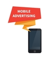 Mobile advertising and marketing vector image vector image