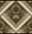 modern geometric 3d greek seamless pattern grid vector image vector image