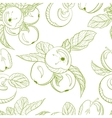 Monochrome pattern drawing apples and apple branch vector image vector image