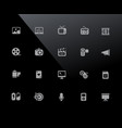 multimedia icons 32px series vector image