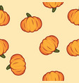 orange pumpkin halloween pattern pumpkin pattern vector image