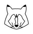 portrait of wolf husky animal wildlife image vector image vector image