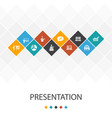 presentation trendy ui template infographics vector image vector image