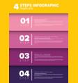 progress four steps template vector image