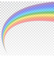 rainbow icon shape arch realistic isolated vector image