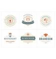 restaurant logos templates set vector image