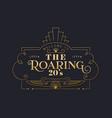 roaring 20s gold art deco frame background vector image vector image