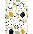 seamless pattern with fresh lemons for fabric vector image