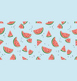 seamless pattern with watermelons trendy vector image vector image