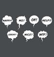set comic speech balloons on grey background vector image vector image