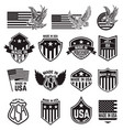 set made in usa labels emblems with an vector image