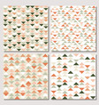 set triangle seamless pattern modern abstract vector image vector image