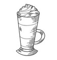 soft warm drink sketch hand drawn christmas drink vector image vector image