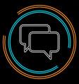 speech bubble communication icon vector image