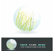 Sphere with spring inside shiny ball vector image