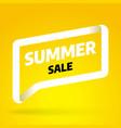 summer sale banner template design special offer vector image