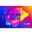 summer start fest poster cyber game festival vector image vector image