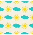 Sun and clouds in the sky seamless background vector image vector image