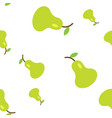 the seamless pattern tropical ornament green pear vector image