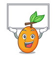 up board juicy yellow plums with leaves cartoon vector image vector image