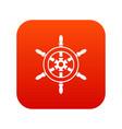 wheel of ship icon digital red vector image vector image