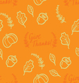 Cute vintage Thanksgiving Day card vector image