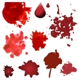 blood splatters isolated on white Design vector image