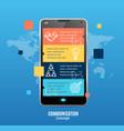 realistic 3d messenger communication concept vector image