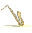 Sax Drawn Watercolor vector image