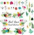 Vintage hand drawn floral vector image