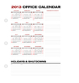 2013 Clean Office Calendar vector image