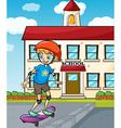 A boy skating vector image vector image